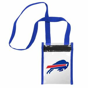 """Buffalo Bills CLEAR Crossbody Tote Bag Purse Stadium Security Approved 8"""" x 6"""""""