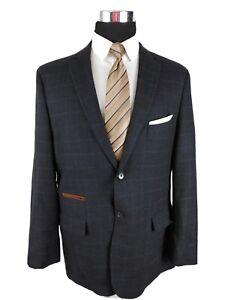 Johnston & Murphy Mens Sport Coat Blazer Two Button sport Jacket Size XL 44R