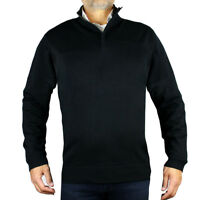 New Hugo Boss Mart 50247627 Mens 1/4 Zip Knitwear Jumper 2xl 3xl Navy, Black