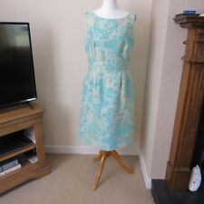 Tahari, Arthur S Levine, Pale Blue/Gold Dress Size 8 Immaculate
