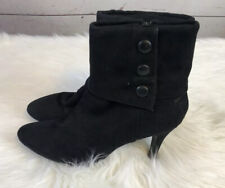 Women's Black Fioini Suede Ankle Heel Boots Size 8