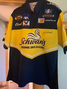 Autographed Ken Schrader Bam pit crew shirt