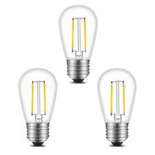 BRTLX S14 E27 LED Filament Bulb 2W Warm White 2700K 11W Incandescent Equivalent