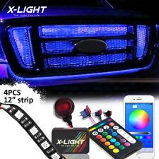 "4-Strip 12"" RGBW 72-LED Knight Night Rider Scanner Lighting Bars w/Phone Control"