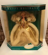 Happy Holidays 1994 Barbie Doll NRFB #12155 Damaged Box