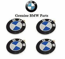 BMW E30 E34 E36 E39 Set Of 4 Emblems Wheel Center Cap 58mm Genuine 36131181081