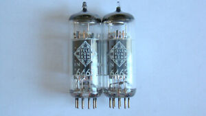 MATCHED PAIR OF TELEFUNKEN 6463 TUBE TESTED ON AMPLITREX