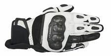 ALPINESTARS 2016 SPX AIR CARBON Leather/Mesh Motorcycle Gloves (Black/White) 2XL