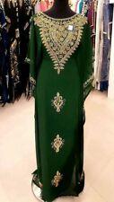 Año Nuevo Especial Verde Dubái Caftanes Abaya Vestido Elegante Largo Farasha Ms