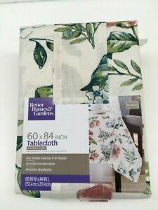Better Homes & Garden Annabelle Floral Print Tablecloth 60 x 84 Rectangle