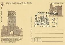 Poland postmark BIELSKO-BIALA - theatre