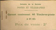 FRENCH GUINEA BOOKLETS 1913 2F FORD AT KITIM SB1