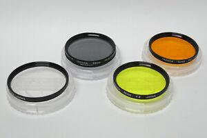 Original Yashica Filterset 52mm Gelb orange UV POL gebraucht 52 mm Filter SET