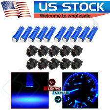 10X 2-SMD 2835 Twist-in Instrument Panel Dash Light LED Bulb PC Sockets T5 Blue