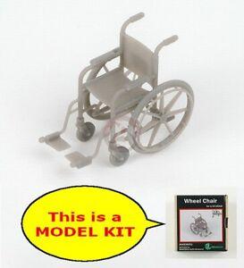 MJ Miniatures 1/35 Wheelchair with Swivel Footrests (1 pc) [MODEL KIT] MJEZ35021