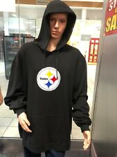 Pittsburgh Steelers  Hooded Sweatshirt Hoodie MEN'S    REEBOK NFL BLACK LOGO