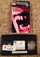 Count Yorga, Vampire (1970) - VHS Video Tape - Horror / Romance - HBO Video