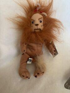 Cowardly Lion Bean Bag Warner Bros Wizard of Oz Plush Toy Tags Soft Doll 1998