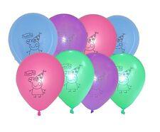 Peppa Pig Latex Balloons (x 8) Multicoloured birthday party balloons 25 cm