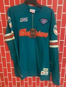 Men's Mitchell & Ness NFL Team Inspired Long Sleeved Miami Dolphins Size L RARE