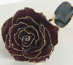 GENUINE RED ROSE - PRESERVED IN 24 CARAT GOLD SYMBOL OF LOVE AND BEAUTY