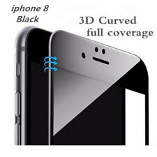 For iPhone 8 3D Full Edge to Edge Black Tempered Glass Screen Protector