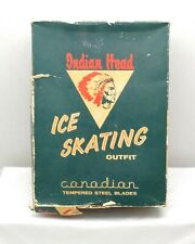 Vintage Indian Head Ice Skates with Box
