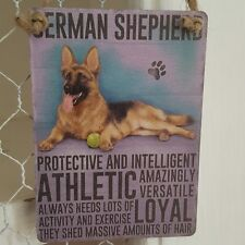 GERMAN SHEPHERD DOG MINI METAL CHIC N SHABBY VINTAGE RETRO SIGN ALSATIAN GSD