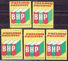POLAND 1962 Matchbox Label - Cat.Z#341I/V  Get to know the safety regulations.