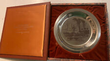 Third Annual Franklin Mint Thanksgiving Plate Solid Sterling Silver 1974 Prayer