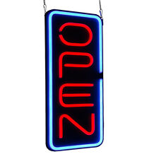 "Vertical 23.6""X11.8"" Neon Open Sign 30W Led Light Fraternity Houses Window"