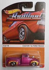 Hot Wheels Heritage Redline Series '56 Ford Pickup Pink w/ Flames New In Pack