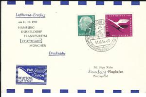 Lufthansa, LH, Erstflug, FFC, Stuttgart - Hamburg, 31.10.55,