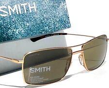 NEW* SMITH OPTICS TURNER Aviator Matte Gold ChromaPop POLARIZED Green Sunglass