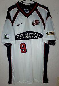 MLS New England Revolution Reebok 1998 Joe-Max Moore Home Soccer Jersey Rare