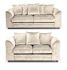 Dylano/Chicago 3+2 Sofa Suite Swivel Chair Crushed Velvet/Shimmer/Glitz Mink