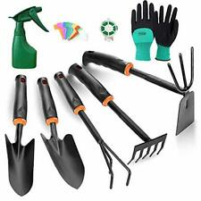 TOORGGOO Gardening Tool Set, High Carbon Steel Heavy Duty Hand Garden Tool Set