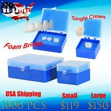 Dental Lab Packaging Plastic Box with Foam Single Crowns & Bridge Large 1000pcs