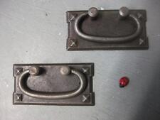 quality pair cast iron blanket box handle chest handle kitchen draws - 100mm