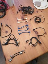 More details for job lot guitar pedal patch leads studio sound engineer boss cables daisy chain
