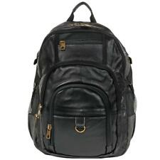 Wilsons Leather Mens Hunter Laptop Compatible Canvas/Leather Backpack Black