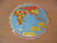 (B52) GRAND DISQUE GEOPOLITIQUE DU MONDE DES ANNEES 70 EN PORTUGAIS D= 34 CM