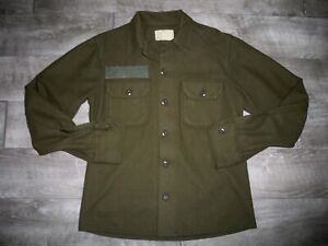 Vintage Post Vietnam US Army OG-108 Wool Cold Weather Field Shirt Jacket Small