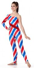 Americana Dance Costume Candy Cane Unitard Christmas Clearance Adult Small