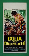 L56 LOCANDINA GOLIA ALLA CONQUISTA DI BAGDAD ROCK STEVENS HELGA LINE MARIO PETRI
