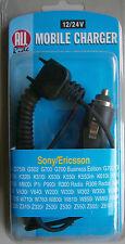 Auflader mobili * 12/24 V * per Sony Ericsson * all Ride * NUOVO * SCATOLA ORIGINALE