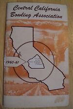 "VTG 1960 Booklet~""CENTRAL CALIFORNIA BOWLING"" Association~Photos~Dates~"