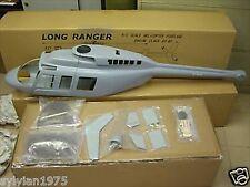 FUNKEY Long Ranger Scale Fuselage for 600 size UNPAINTED  + Landing Skid  NIB