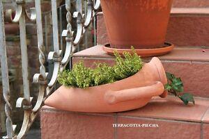 terracotta Krug terrakotta offene Amphore 28 cm
