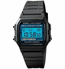 Casio F105W-1A Men's Resin Band Alarm Chrono Illuminator Light Digital Watch